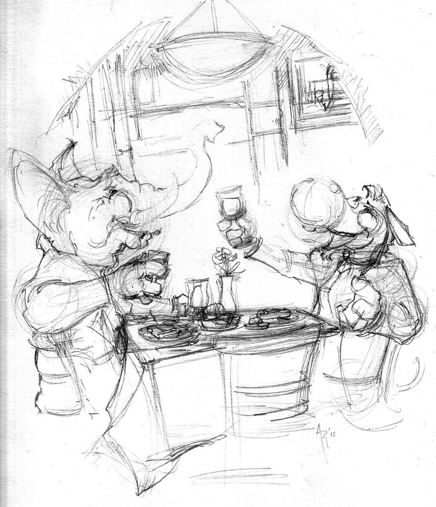 restaurant mag dinner prelim illus